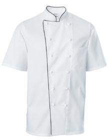Pánsky kuchársky rondón Premium Chef krátky rukáv s lemom