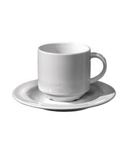 Šálka na kávu s mliekom Monaco (stohovateľná)