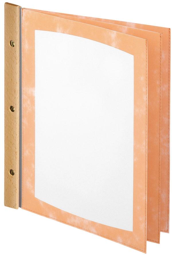 PVC lístok s drevenou lištou (6 okien)
