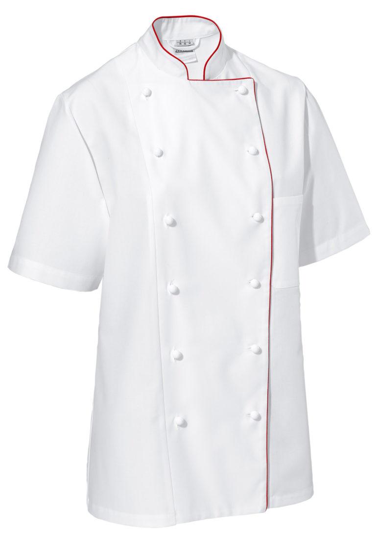 Dámsky kuchársky rondón Aila krátky rukáv s lemom