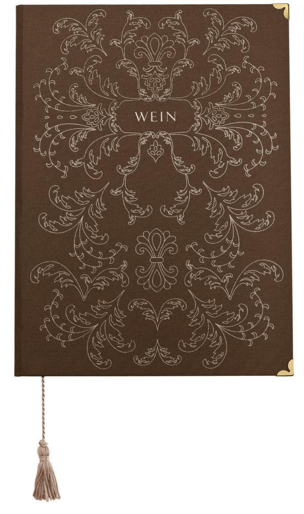 Vínna karta z knihárskeho materiálu (2 okná)