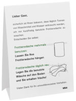 Umývateľný stojan 3-jazyčný, D/GB/F
