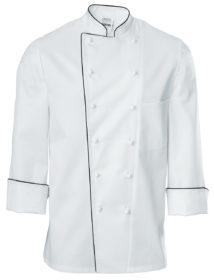 Pánsky kuchársky rondón Premium Chef dlhý rukáv s lemom