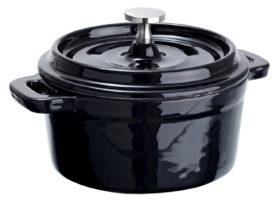 Liatinové mini Cocottes Cooker okrúhle