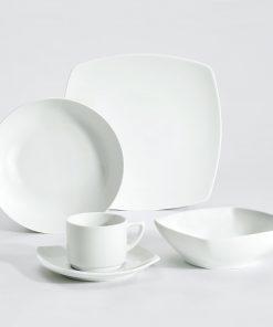 Vzorkový set tanierov Taiji biely