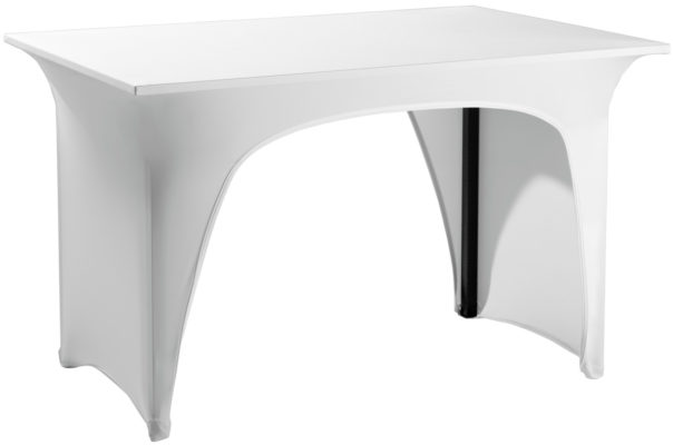 Strečový návlek na banketový stôl Grace s 2 výrezmi
