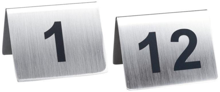 Číslované stojančeky na stôl