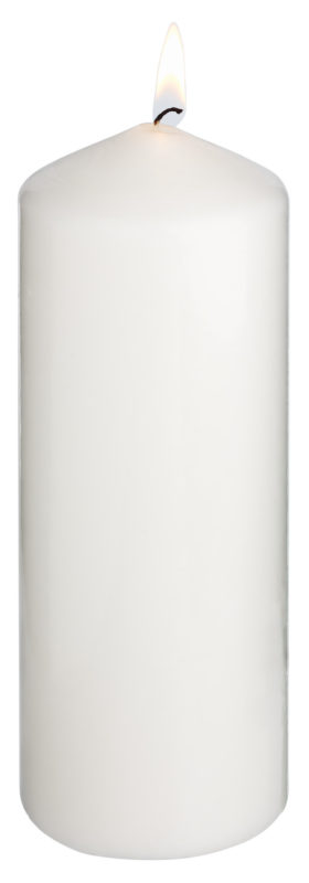 Sviečka Ivory (7.7x20 cm)