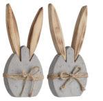 Dekoračný stojan so zajacom