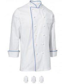 Pánsky kuchársky rondón Samuel dlhý rukáv s lemom