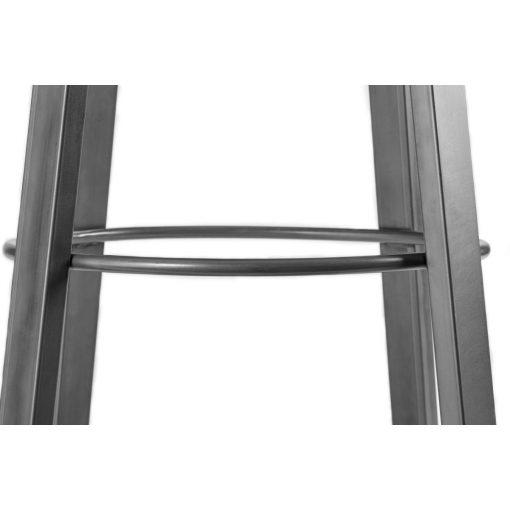 Barová stolička Metalio s polstrovaným sedákom