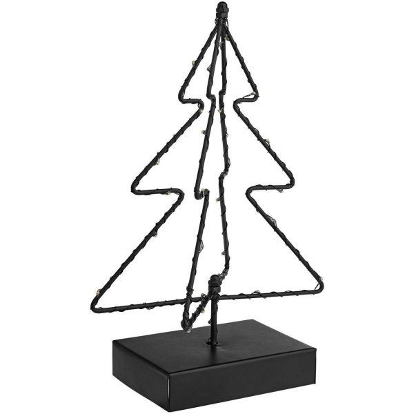 Kovový stromček s osvetlením Ajula