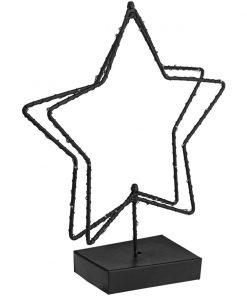 Kovová hviezda s osvetlením Akima