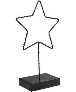 Kovová hviezda s osvetlením Akuye