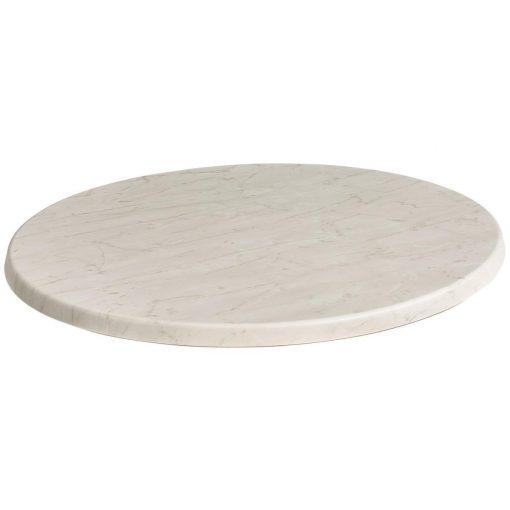 Werzalitová stolová doska Marmor Bianco okrúhla
