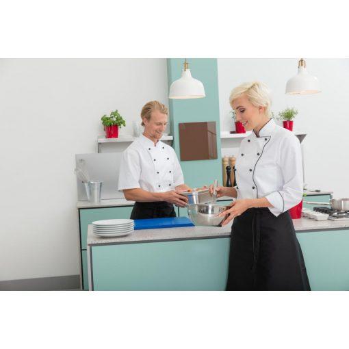 Dámsky kuchársky rondón Aila dlhý rukáv s lemom
