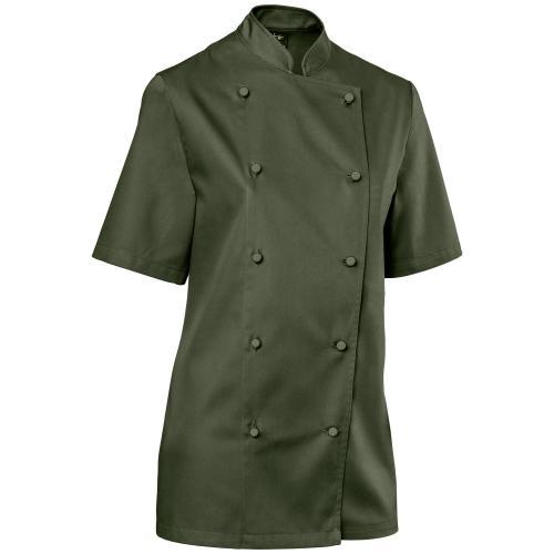 kuchársky rondón, dámsky kuchársky rondón, rondón, kuchárske oblečenie, oblečenie pre kuchárky, rondón s krátkym rukávom, rondón pre kuchárky