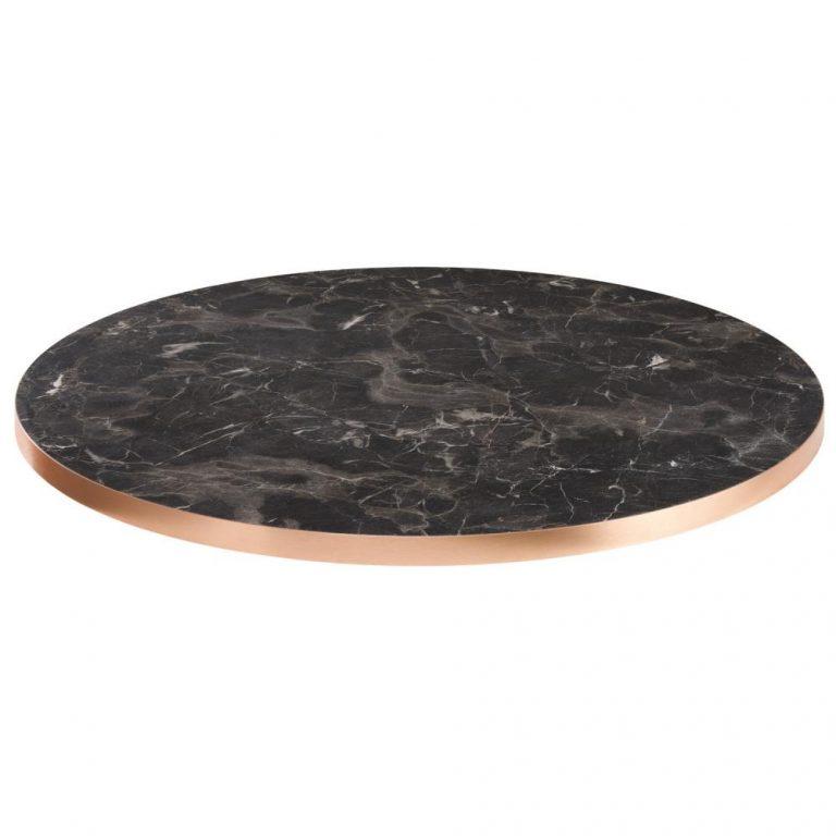 Stolová doska marvani čierna medená