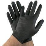 Jednorázové nitrilové rukavice Aurin čierne, veľkosť S