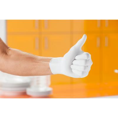 Jednorázové nitrilové rukavice biele, veľkosť M